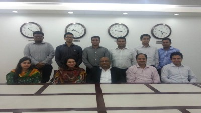 Our Chairman with the Research Team